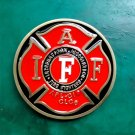 1 Pcs International Association Fire Fighters Cowboy Belt Buckle
