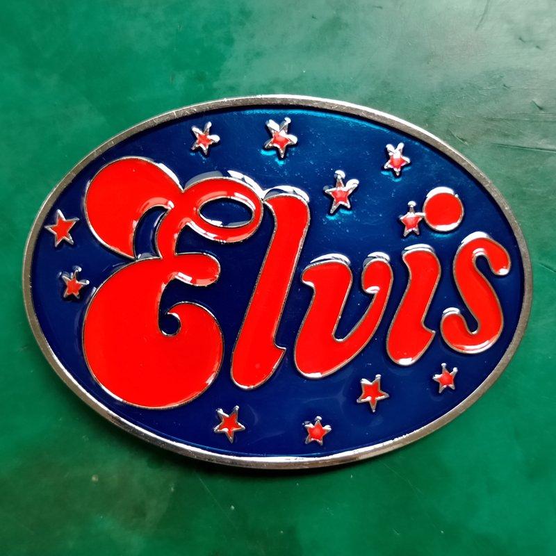 1 Pcs Red Elvis Rock Music Luxury Western Cowboy Belt Buckle For Fashion Men