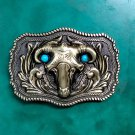 1 Pcs Bronze Indian Skull Bull Head Luxury Western Cowboy Belt Buckle For Fashion Men