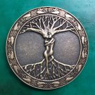 1 Pcs Round Bronze Tree Life Western Cowboy Metal Belt Buckle For Men