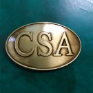 1 Pcs Bronze CSA Letter Western Cowboy Metal Belt Buckle For Men