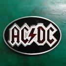 1 Pcs Oval ACDC Rock Music Western Cowboy Metal Belt Buckle For Men