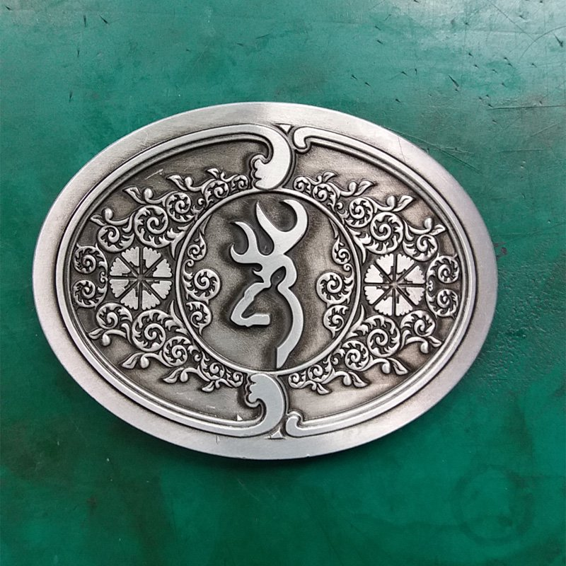 1 Pcs Silver Hunting Western Cowboy Metal Belt Buckle For Men