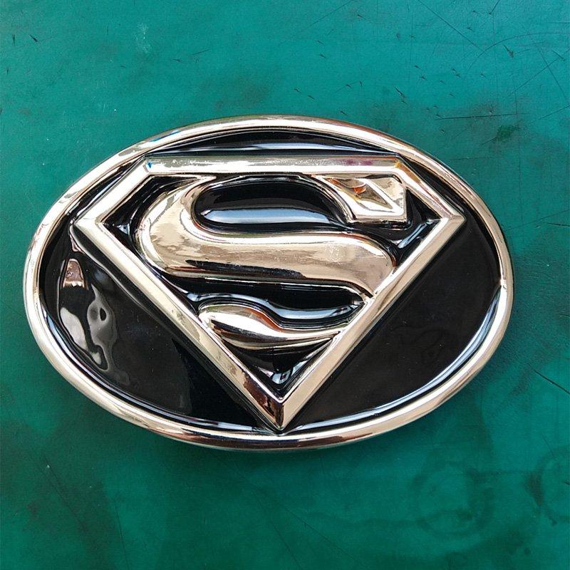 1 Pcs Superman Luxury Brand Men's Western Cowboy Belt Buckle Fit For 4cm Width Belts