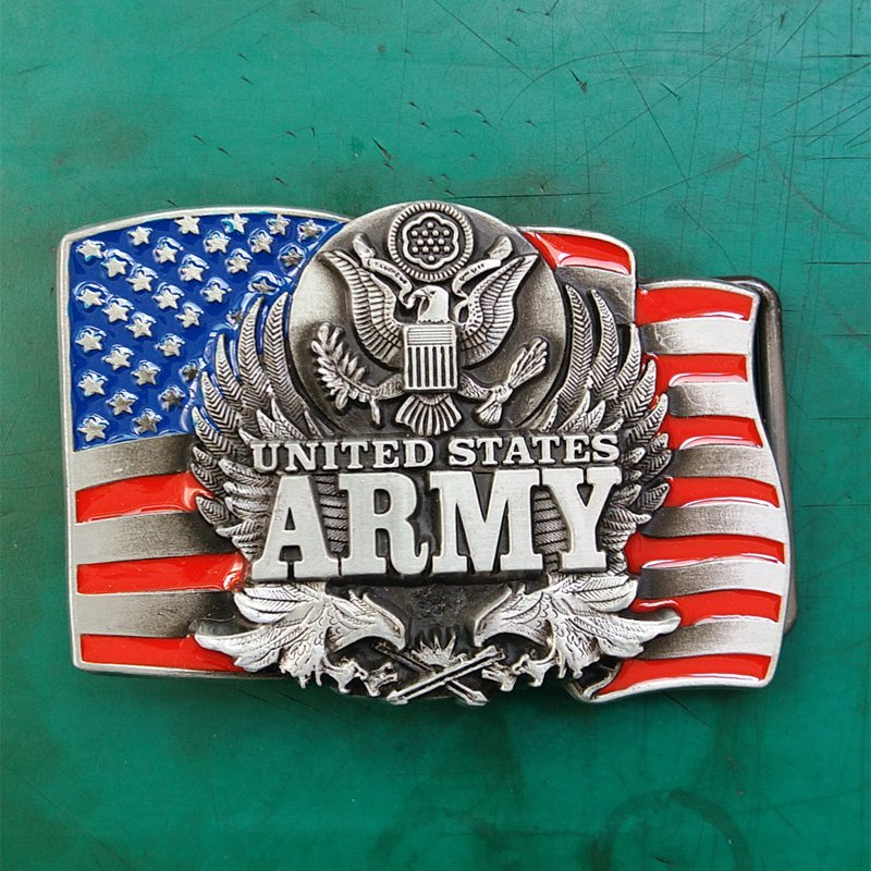 1 Pcs United States Army Luxury Brand Men's Western Cowboy Belt Buckle Fit For 4cm Width Belts
