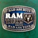 1 Pcs RAM Trucks Luxury Brand Men's Western Cowboy Belt Buckle Fit For 4cm Width Belts
