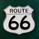 1 Pcs White Route 66 Luxury Brand Men's Western Cowboy Belt Buckle Fit For 4cm Width Belts