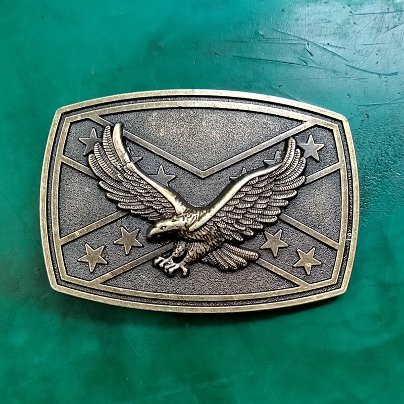 1 Pcs Bronze Fly Eagle Luxury Men Western Cowboy Cowgirl Belt Buckle