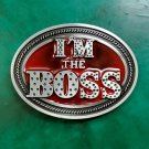 1 Pcs The Boss Luxury Men Western Cowboy Cowgirl Belt Buckle