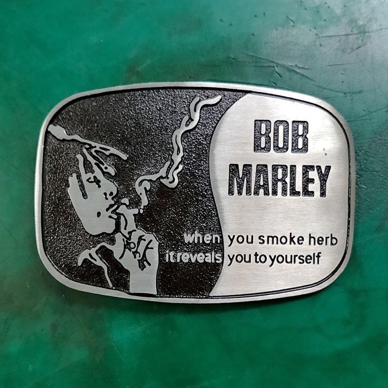 1 Pcs Bob Marley Smoke Luxury Men Western Cowboy Cowgirl Belt Buckle