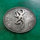 1 Pcs Brown Hunting Luxury Men Western Cowboy Cowgirl Belt Buckle
