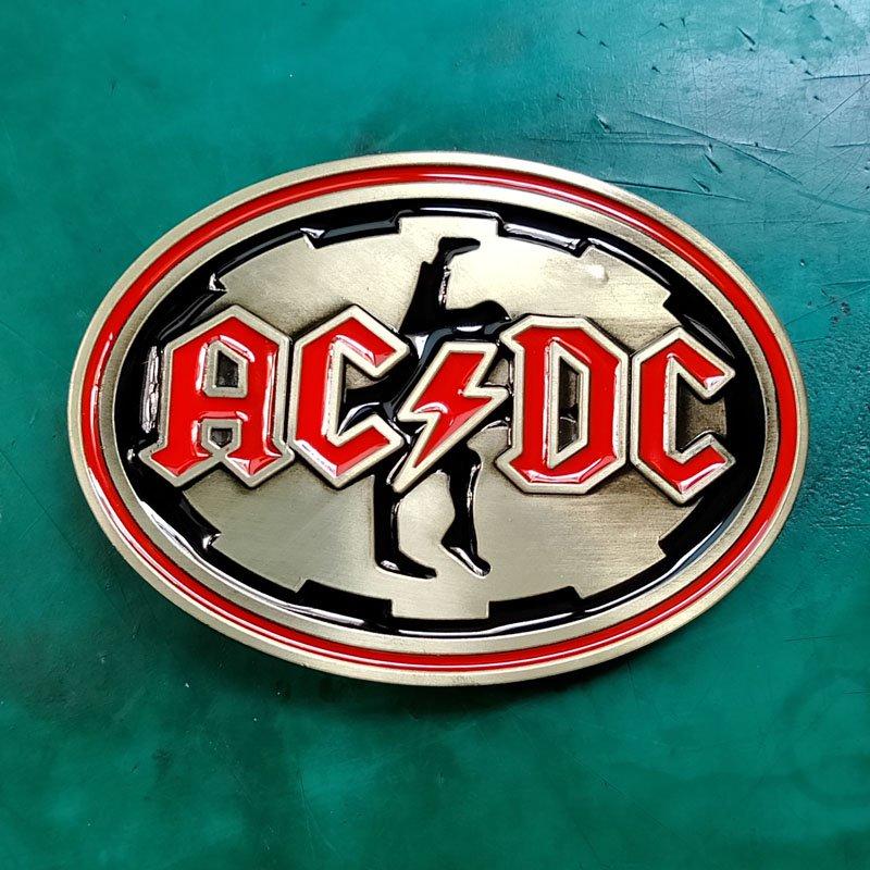 1 Pcs Bronze ACDC Music Luxury Men Western Cowboy Cowgirl Belt Buckle