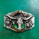 1 Pcs Rodeo Bull Head Luxury Men Western Cowboy Cowgirl Belt Buckle