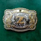 1 Pcs Big Size Gold Z Initial Letter Cowboy Metal Belt Buckle For Men's Jeans Belt Head