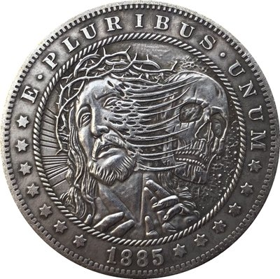 Hobo Nickel 1885-CC USA Morgan Dollar COIN COPY Type 126