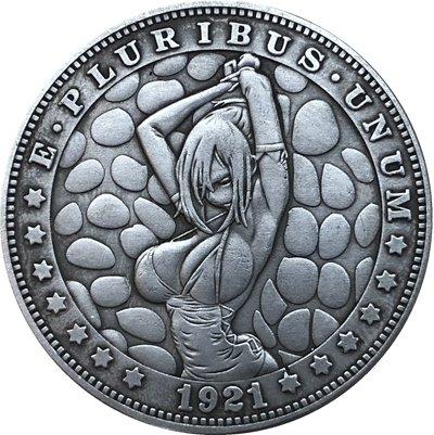 Hobo Nickel 1921-D USA Morgan Dollar COIN COPY Type 96