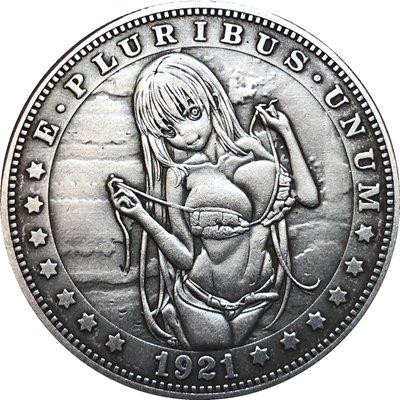 Hobo Nickel 1921-D USA Morgan Dollar COIN COPY Type 104