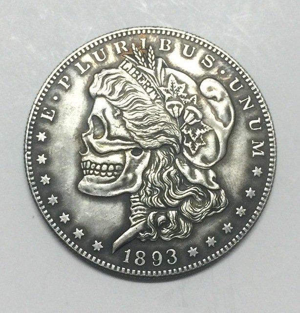 Hobo Nickel two face 1893 USA Morgan Dollar COIN COPY