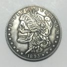 Hobo Nickel two face 1893 USA Morgan Dollar COIN COPY