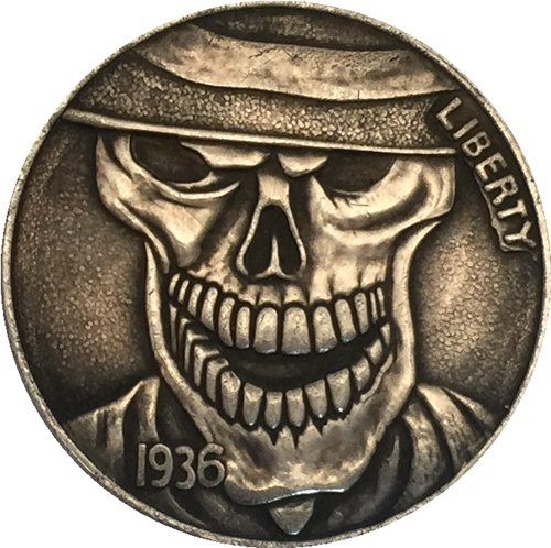 Hobo Nickel 1936-D 3-LEGGED BUFFALO NICKEL COIN COPY Type 4