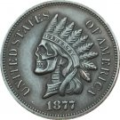 Hobo Nickel 1877 Indian head cents COIN COPY