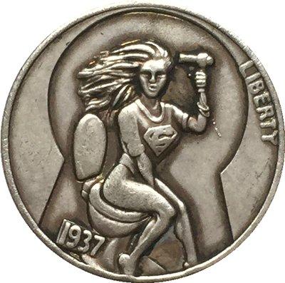 Hobo Nickel 1937-D 3-LEGGED BUFFALO NICKEL COIN COPY Type 69