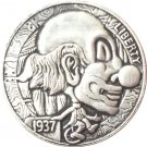 Hobo Nickel 1937-D 3-LEGGED BUFFALO NICKEL COIN COPY Type 43
