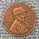 Hobo Nickel 1943 Lincoln Penny COIN COPY Type 38