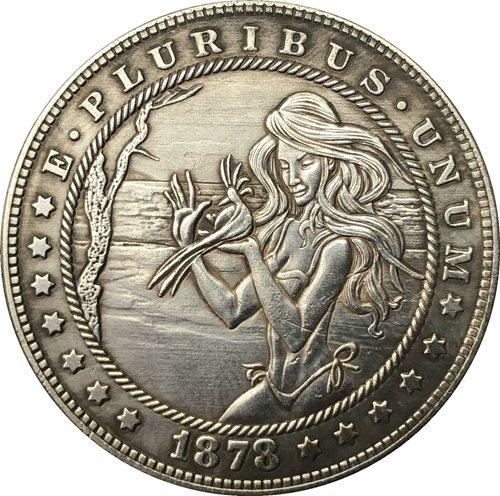 Hobo Nickel 1878-CC USA Morgan Dollar COIN COPY Type 129