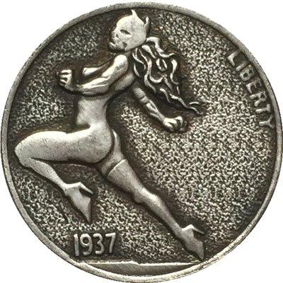 Hobo Nickel 1937-D 3-LEGGED BUFFALO NICKEL COIN COPY Type 68