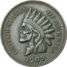 Hobo Nickel 1909-S Indian head cents COIN COPY