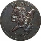 Hobo Nickel 1793 HALF CENT copy coins
