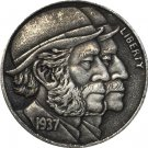 Hobo Nickel 1937-D 3-LEGGED BUFFALO NICKEL COIN COPY Type 24
