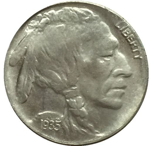 1935 BUFFALO NICKEL COIN COPY