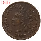 1867 Indian head cents coin copy