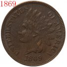 1869 Indian head cents coin copy