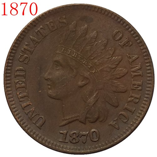 1870 Indian head cents coin copy