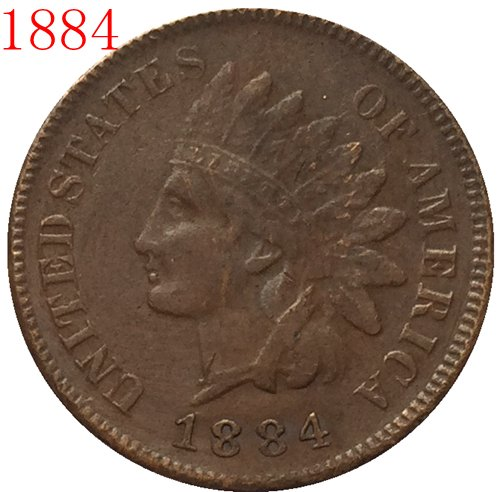 1884 Indian head cents coin copy