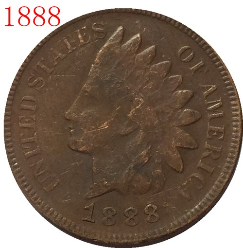 1888 Indian head cents coin copy