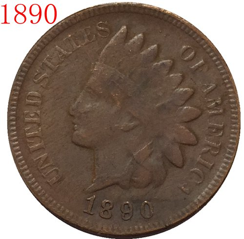 1890 Indian head cents coin copy