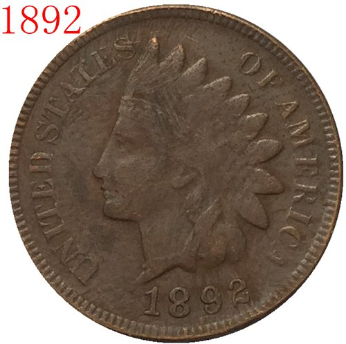 1892 Indian head cents coin copy