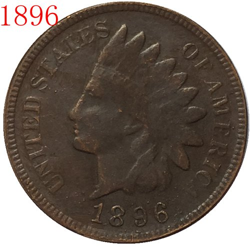 1896 Indian head cents coin copy