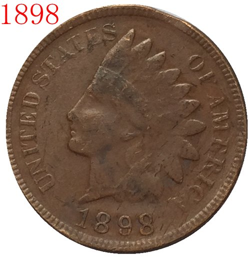 1898 Indian head cents coin copy