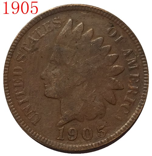 1905 Indian head cents coin copy