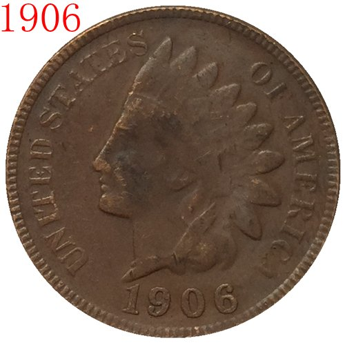 1906 Indian head cents coin copy