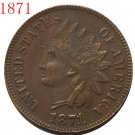 1871 Indian head cents coin copy