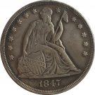 1847 Seated Liberty Dollar COINS COPY
