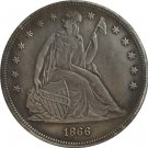 1866 Seated Liberty Dollar COINS COPY
