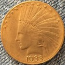 24- K gold plated 1933 Indian head $10 gold coin COPY