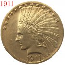24-K gold plated 1911 $10 GOLD Indian Half Eagle Coin Copy